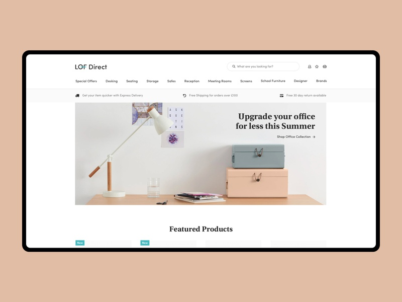 Lof Direct typography user experience user interface ecommerce layout website design web ux ui