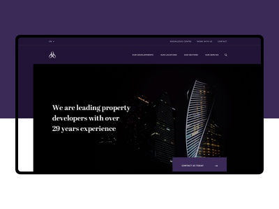 Alliance Investments - Hero icons layout website desktop responsive design web user interface user experience header hero ux ui
