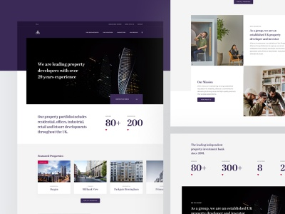 Alliance Investments - Home icon typography layout website user experience user interface homepage property design web ux ui