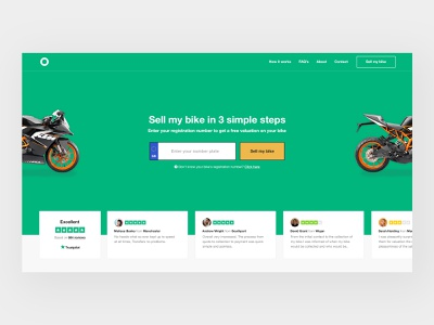 Bike Sales Concept desktop responsive icons website design ecommerce user experience user interface website design web ux ui