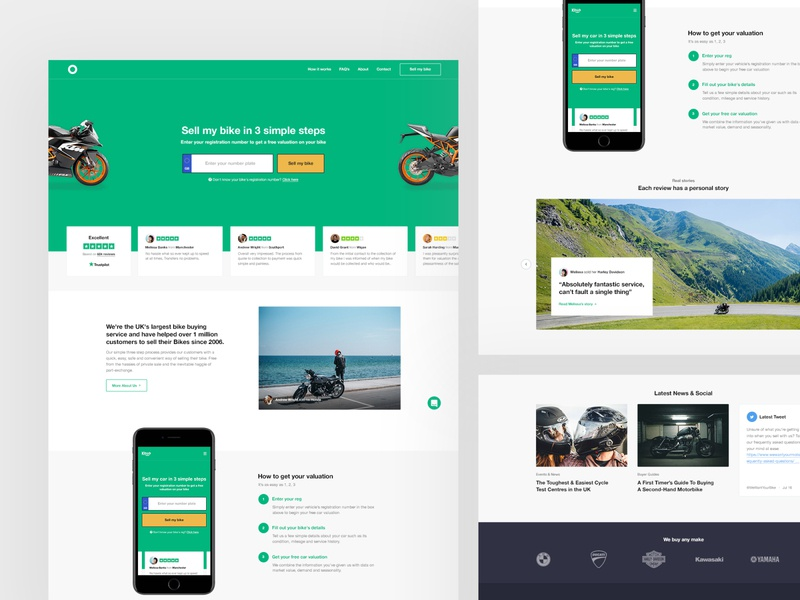 Bike Sales Full Concept icons website design ecommerce user experience user interface website design web ux ui