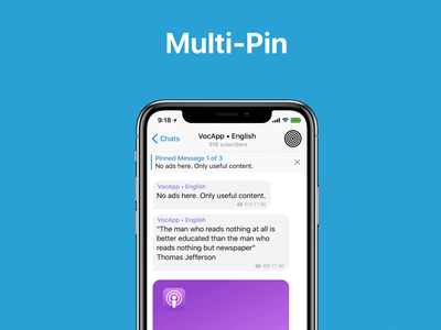 Telegram Multi Pin pin messenger telegram