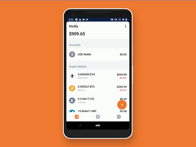 Hodly Wallet crypto currency ethereum pixel wallet chart animaiton android crypto