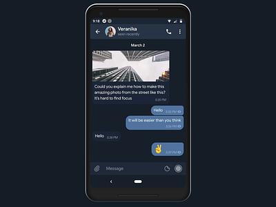 Telegram Attachment Menu telegram file ux android material design comment photo menu bar attachment