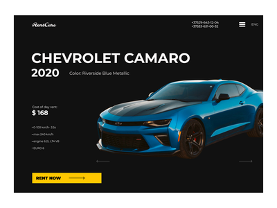 Rent a car 2020 camaro rent car rent logo icon branding design