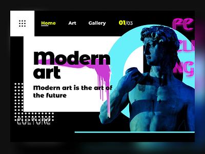 Museum modern art (koncept) design ux ui art gallery gallery future culture koncept art modern art