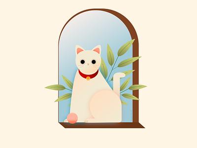 Кошка в окошке | Cat in the window 2d graphics 2d vector design vector art illustration window cat