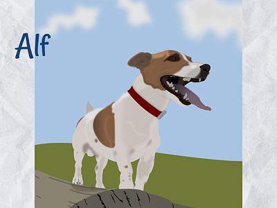 Jack russell terrier 2d art art illustration dog