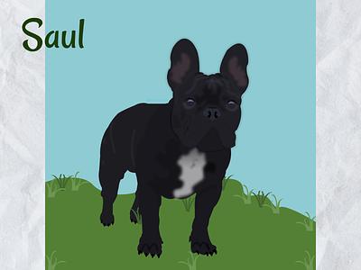 Fench bulldog french bulldog design art illustration 2d art dog