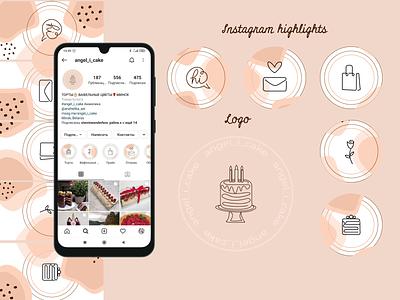 Instagram highlights illustration branding design logo icon instagram highlights