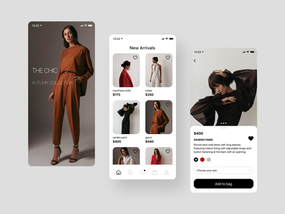 Clothing store store ios ui shop fashion clothes app