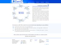 ElentA Production Facilities page