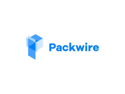 Packwire Logo mark brand identity box packaging logos logo