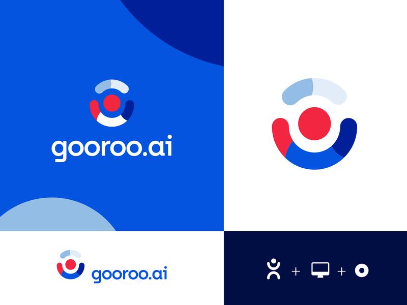 Gooroo colorfull design startup brand identity logotype branding logo