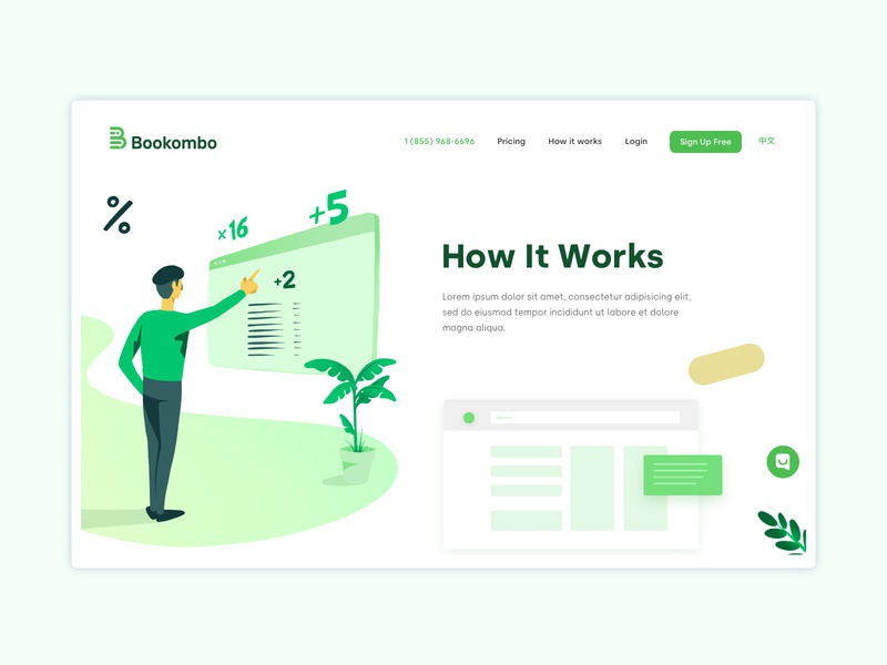 Bookombo Website animation animated vector website web start up webdesign ux sketch web design ui interface startup illustration design