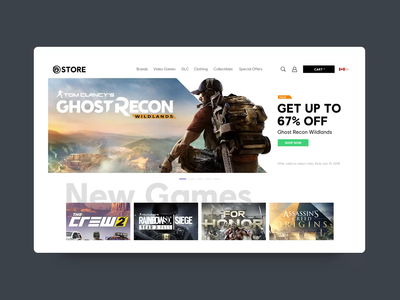 Ubistore - Web slider ubisoft video game videogame branding ux web design ui interface animation design