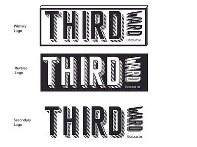 Third Ward Chocolate Co. lettering type minimal app typography branding vector logo design illustration