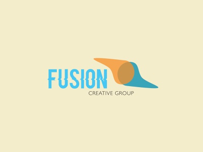 Fusion Creative Group Logo Design minimal lettering logo illustration branding