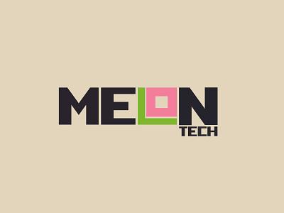 Melon Tech Logo Design type design logo lettering illustration branding