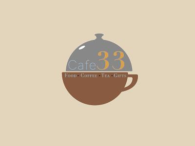 Cafe 33 Logo Design minimal design lettering illustration branding