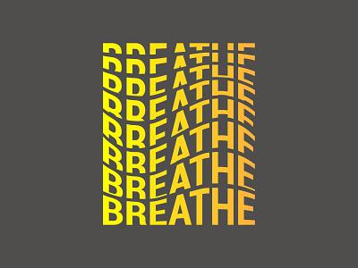 Breathe Typography minimal type logo lettering design illustration