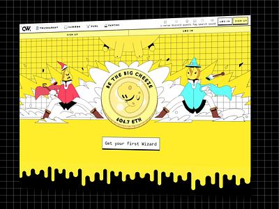 Cheeze Wizards: Website cheeze wizards cheese gaming branding art direction character design dapper crypto dapperlabs blockchain