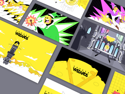 Cheeze Wizards: Press kit cheeze wizards cheese branding illustration art direction gaming vancouver design dapper crypto dapperlabs blockchain