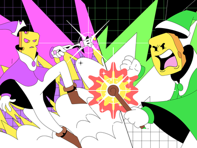 Cheeze Wizards: Dueling cheeze wizards cheese illustration gaming character art direction vancouver design dapper crypto dapperlabs blockchain