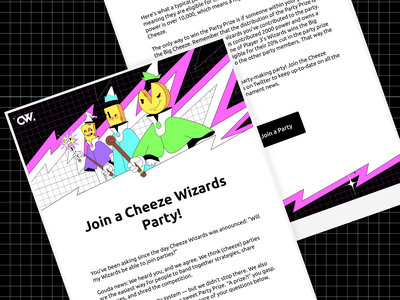 Cheeze Wizards: Emails emails illustration branding art direction character vancouver design dapper crypto dapperlabs blockchain
