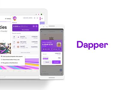 Dapper ux ui branding art direction vancouver design dapper crypto dapperlabs blockchain
