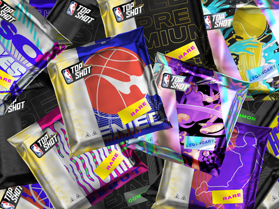 NBA Top Shot - Packs graphic design collectibles digital collectibles drops packs basketball top shot nba top shot nba nft nfts gaming design dapper dapperlabs illustration art direction vancouver crypto blockchain