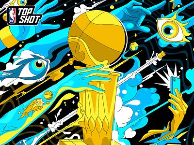 PACK DROP: 2020 NBA FINALS illustration nba finals nfts nft top shot nba top shot nba basketball gaming art direction vancouver design dapper crypto dapperlabs blockchain