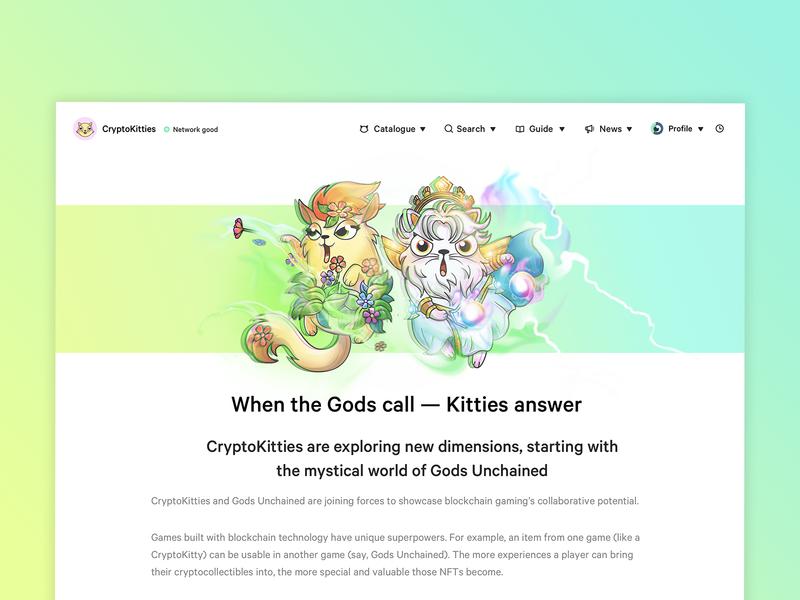 CryptoKitties - Gods Unchained