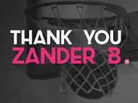 Thanks to Zander Brade for the Dribbble Invite!