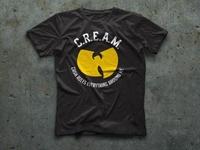 Wu-Tang Clan C.R.E.A.M. T-shirt design