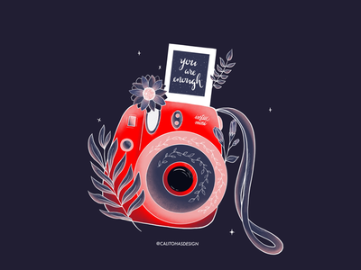 Instax Illustration 2020 art create red pink blue lettering design procreate instax mini instax illustration