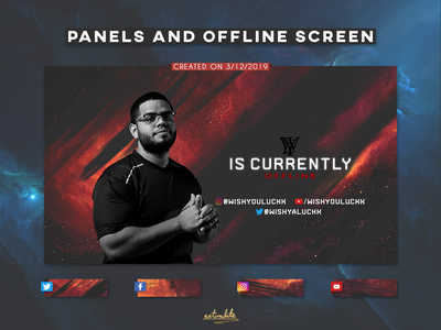 Twitch Panels and Offline Screen destiny 2 esports esport competitive game games livestream social gaming design twitch.tv panels offline mixer designs cosmos branding backgrounds background