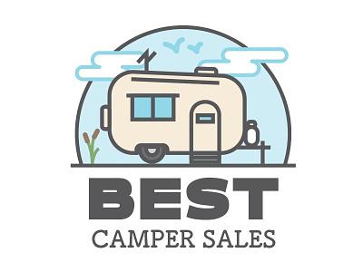 Best Camper Sales Logo Concept A rv logo camper