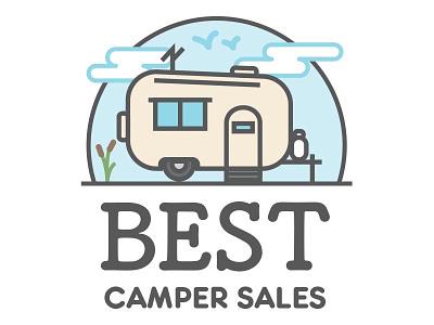 Best Camper Sales Logo Concept B logo rv camper