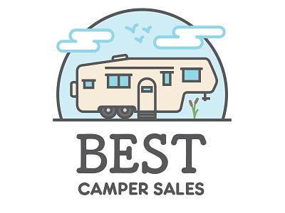 Best Camper Sales Logo logo rv camper