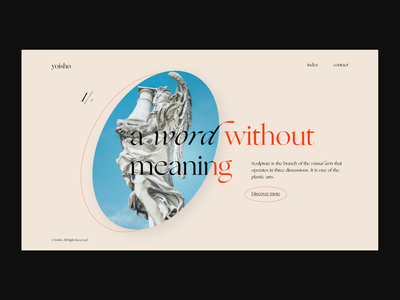 yoisho — Landing Page typography uidesign statue sculpture graphicdesign webdesign web ui minimal design concept