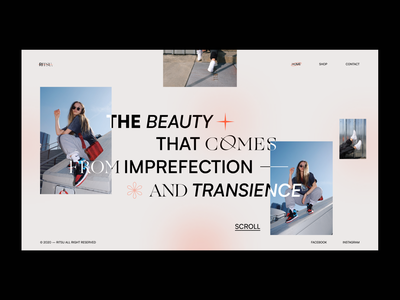 Ritsu — fancy fashion landing page typography minimal uiux ux photography concept graphicdesign ui web branding webdesign