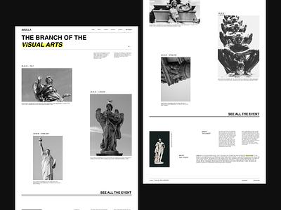 Adolla — landing page statue sculpture typography design typogaphy ux uiux uidesign photography graphicdesign design webdesign ui minimal
