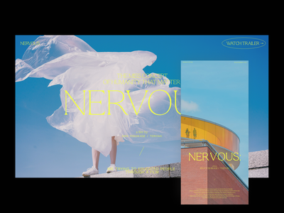 NERVOUS: — Vol 01 website ux ui film poster film branding minimal layout interface typogaphy photography concept uiux graphicdesign design webdesign