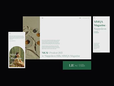 LIE Visuals editorial design visuals website design web design visual exploration serif graphicdesign minimal layout typography photography whitespace editorial