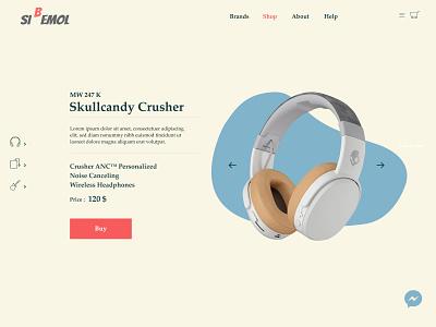 soft uidesign web magazine design soft earphones