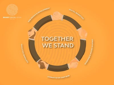 Together We Stand creative digitalpakistan binarymedia.pk website branding agency branding socialmediamarketing socialmedia marketingstrategy digitalmarketing