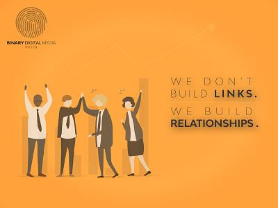 WE BUILD RELATIONSHIPS. digital marketing binarymedia.pk website branding agency branding socialmedia socialmediamarketing digitalpakistan marketingstrategy digitalmarketing