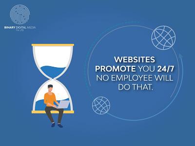 WEBSITE PROMOTE YOU 24/7 binarymedia.pk web design itsolutions webdesignagency webdesigning web design and development softwaredevelopment webdevelopment