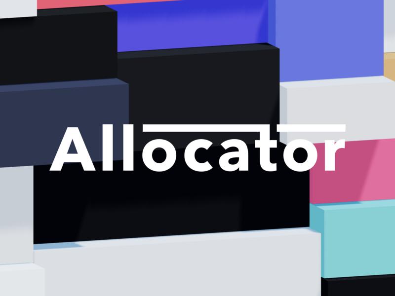 Allocator fintech parametric avenir next generative 3d logo branding allocator